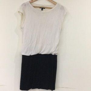 Mango white and black dress